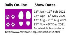 Rally On-Line 2021 show dates